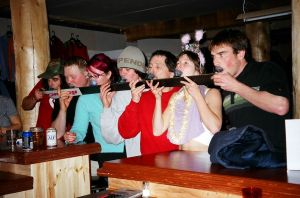 The shot ski at Chatter Creek from the Chatter Creek blog