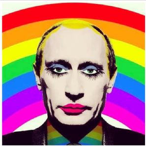 A colourful Putin on instagram