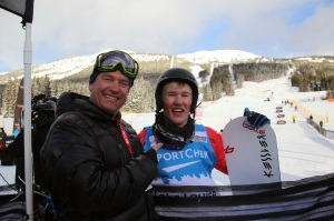Jarryd and his Dad/Manager, Darren Hughes. Photo credit: Jarryd Hughes