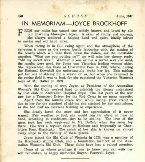 Obituary for Joyce Brockhoff Credit:bellebrockhoff.com