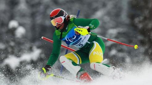 Jessica Gallagher competing in Whistler. Photo credit:Pic: Quin Rooney/Getty Images