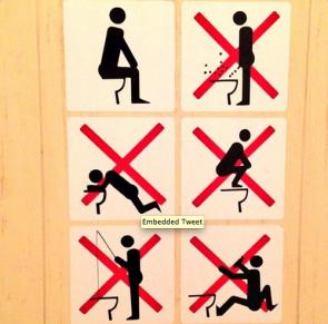 Toilet instructions in Sochi