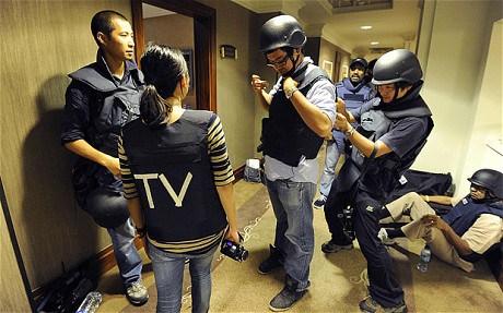 Hostile environment training. Photo credit: Reuters