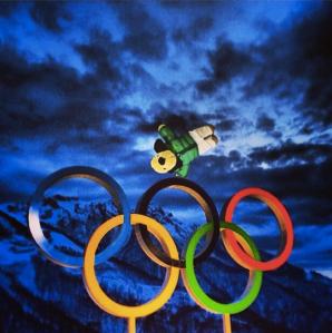 Henry one upping David Morris aerial skier