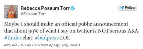 Possum Tweet